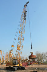 Cina Multi-fungsi Hydraulic Crawler Crane High Power Engine Kontrol Proporsional pemasok