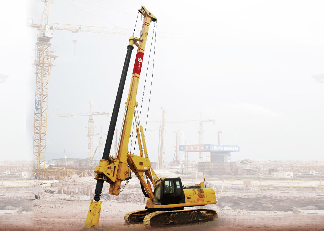 Rotary Drilling Rigs Rotating Speed 8-29 Rpm Weight 55T Max drilling depth  52-55m